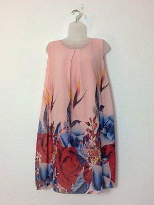 Kleid Ballonkleid Hängerchen rosé Blumen Gr. 42
