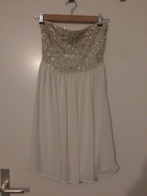 Zara Vestido bandeau blanco