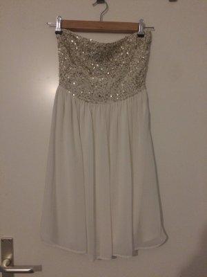 Zara Bandeau Dress white