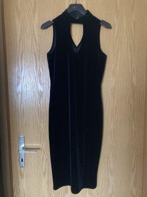 Kleid barchat von Debenhams, groß UK12, schwarz