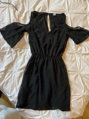 Kleid Basic Cut Out Sommer Schick blackdress