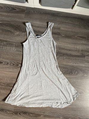 Kleid Basic grau hellgrau Sommerkleid minikleid