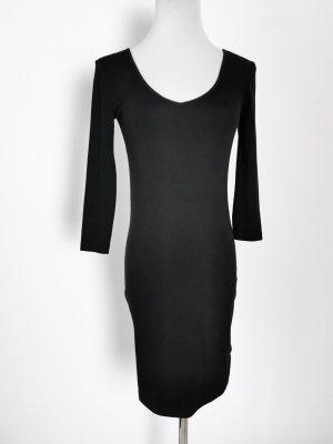 Kleid Baumwolle eng schwarz Terranova