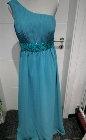 One Shoulder Dress turquoise