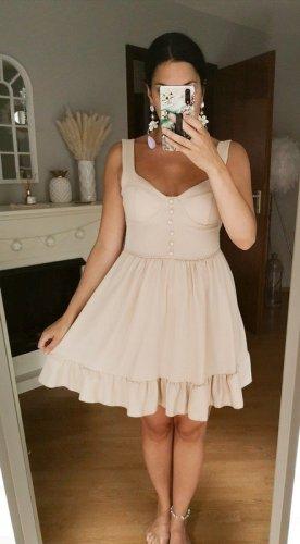 Asos Midi Dress cream-oatmeal