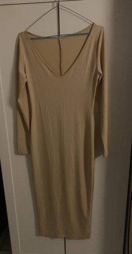 Kleid beige lang