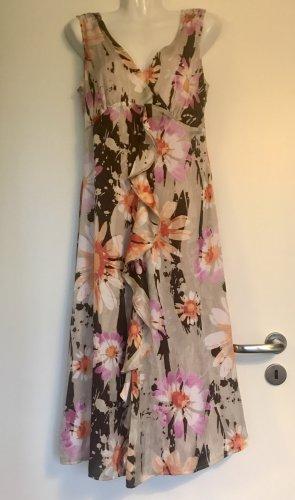 Betty Barclay Sukienka z falbanami Wielokolorowy Tkanina z mieszanych włókien