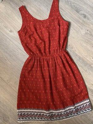 H&M Cut Out Dress dark red