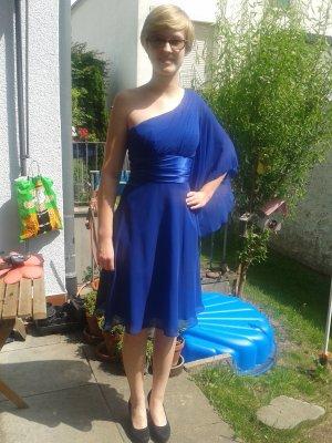 Fashion New York Robe de bal bleu-bleu fluo polyester