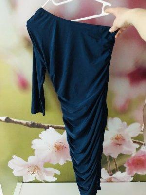 AX Paris Robe asymétrique bleu foncé