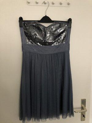 Kleid blau Esprit mit Pailletten