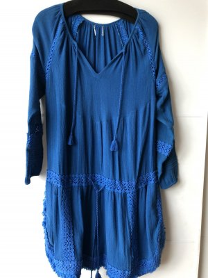 Fringed Dress blue-neon blue