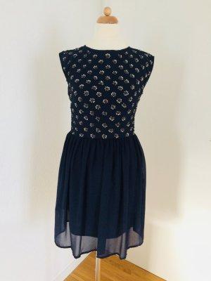 Kleid blau Gr 34 XS by Barbara Schwarzer Young Couture statt 180 eur