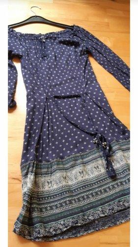 Kleid blau langarm von H&M Gr.XS