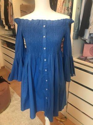 Mango Babydoll Dress blue