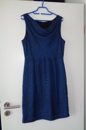 Kleid blau mit Muster Gr. 38 neu