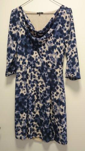 Kleid blau Navy creme von KIOMI Gr. 34 XS
