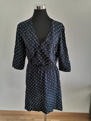 Kleid Blau Punkte Größe 38 Neu mit Etikett