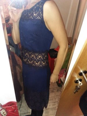 Kleid Blau Romantik Tolle Details 36 34-36 sexy Partydress