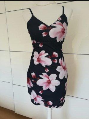 Kleid blau rosa Blüten Blumen Größe S Style Boom Neu mit Etikett