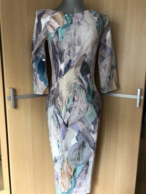 Kleid Bleistiftkleid figurbetont elegant H&M 36/S Pastell