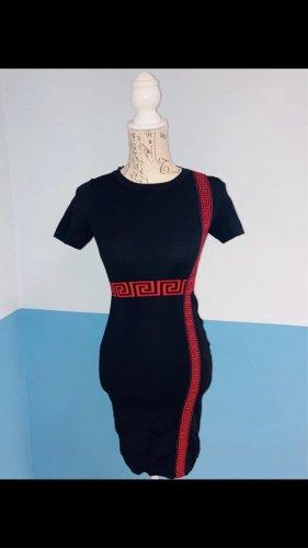 Kleid Blk/Red Gr. L/XL