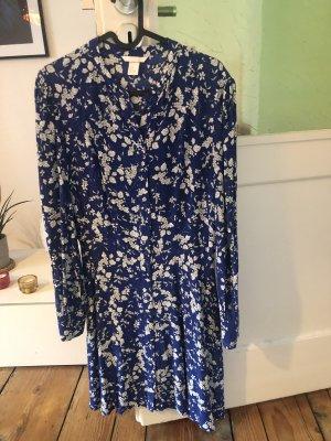 Kleid Blumen blau weiß geblümt 38