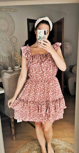 Kleid Blumen Blüten blogger hipster boho Volants Rüschen