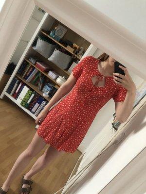 & other stories Summer Dress brick red-white viscose