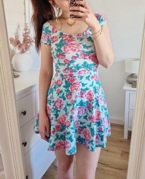 Kleid Blumen Pfingstrosen Skaterkleid Muster Floral 34