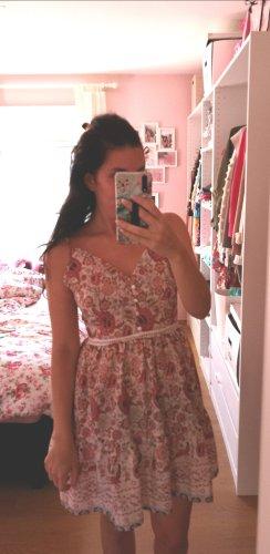 Kleid Blumen Rosen Blüten blogger hipster boho S