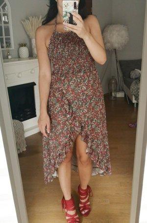 Asos Sukienka z dekoltem typu halter Wielokolorowy