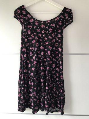 Gina Tricot Sukienka mini czarny-fioletowy