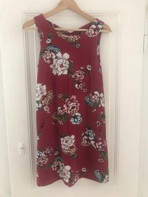 Kleid Blumenmuster pink
