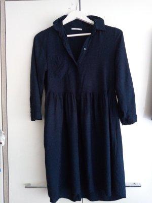 Kleid blusenkleid, HEMD Kleid EDC Gr. 34 Dunkelblau
