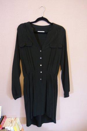 Kleid, Blusenkleid, Hemdblusenkleid, schwarz, Mauro Grifoni, ital. Gr. 40, mit Seide