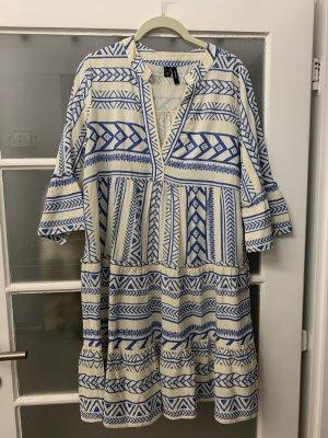 Vero Moda Robe Hippie blanc-bleu