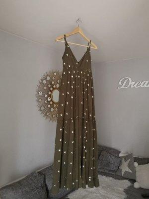 Asos Maxi-jurk khaki-goud