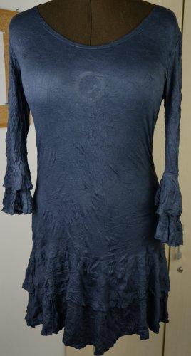 Sukienka boho ciemnoniebieski Wiskoza