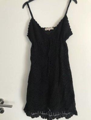 Kleid Boho Style Häkelkleid schwarz Gr XS NEU