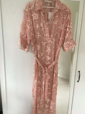 Zara Abito blusa color oro rosa Viscosa