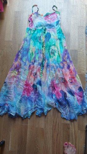 Blu Emotion Robe bas asymétrique multicolore