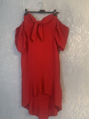 Bohoo Robe de cocktail rouge