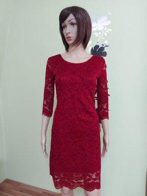 Vestino Lace Dress dark red