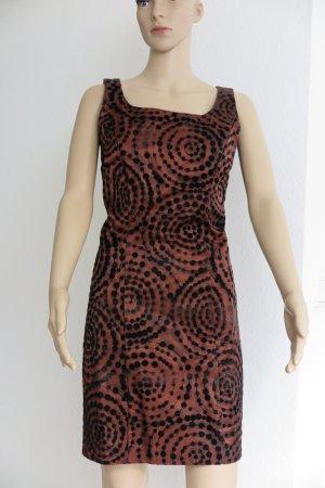Kleid braun/schwarz, zarte schwarze Details