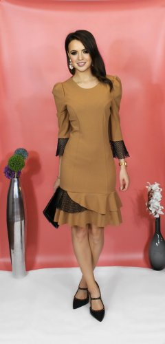 Kleid braun von italienische Designer-Marke Rinascimento