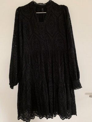 Kleid Broderie Anglaise schwarz Y.A.S.