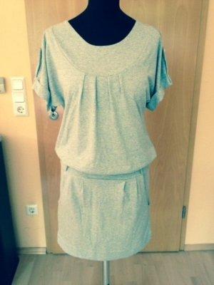 Buffalo London Shirt Dress light grey-grey cotton