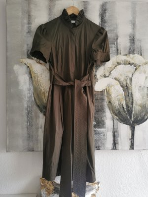 ae elegance Robe mi-longue bronze-gris brun