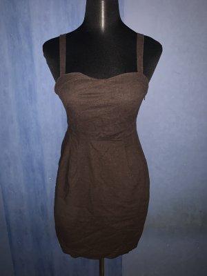 Tally Weijl Sukienka gorsetowa brązowy-ciemnobrązowy